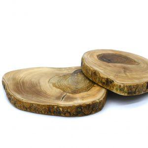 Tabla de olivo irregular pequeña
