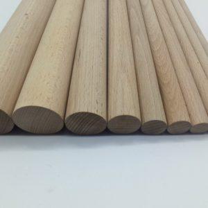 varillas de madera lisas