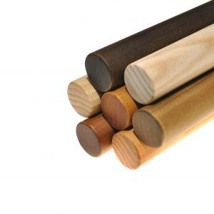 Pasamanos de madera maciza de pino