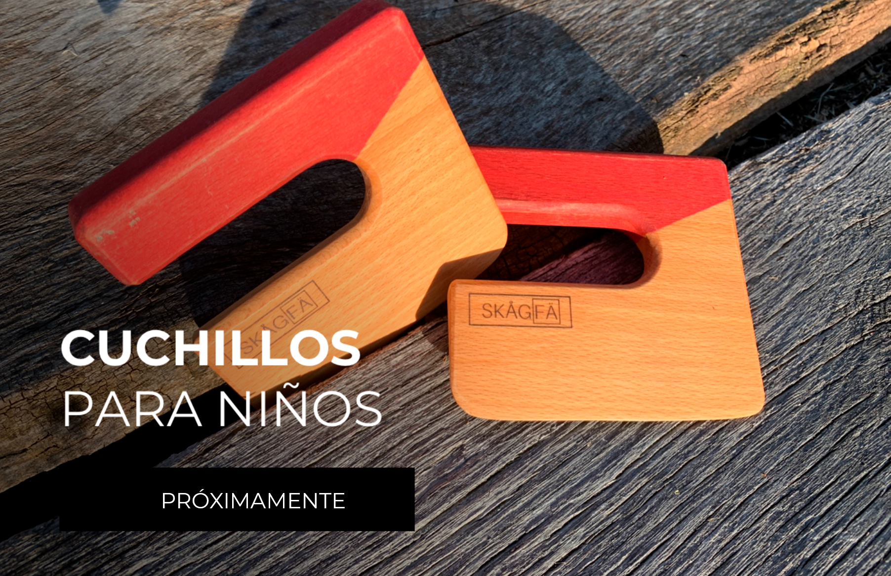 cuchillos para niños de madera